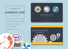 Automotive business card or name card template. Automotive business card or name card template, Simple style also modern and elegant with car service and repair stock illustration
