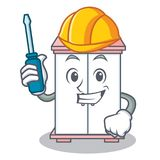 Automotive cabinet character cartoon style Royalty Free Stock Photography