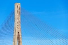 Automotive cable-stayed bridge in Norway Stock Photography