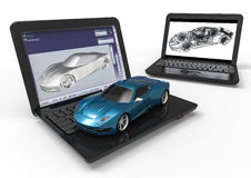 Automotive CAD Royalty Free Stock Photo