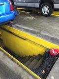 Automotive car pit. Car pit at a automotive shop to fix stock photos