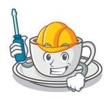 Automotive coffee character cartoon style Stock Photo