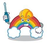 Automotive colorful rainbow character cartoon Royalty Free Stock Photos