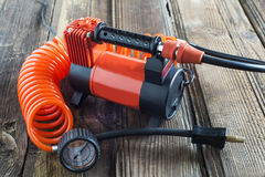 Automotive compressor with hose Royalty Free Stock Photography