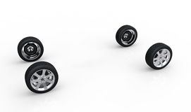 Automotive concept of ar wheels Royalty Free Stock Images