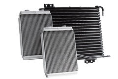 Automotive cooling radiators. Royalty Free Stock Images