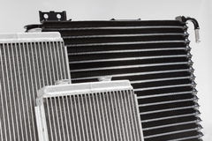 Automotive cooling radiators. Stock Images