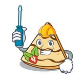 Automotive crepe mascot cartoon style. Vector illustration Royalty Free Stock Images