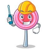 Automotive cute lollipop character cartoon. Vector illustration Stock Photo