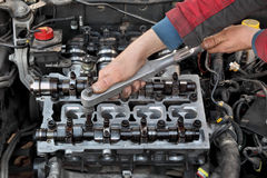 Automotive, cylinder head servicing Royalty Free Stock Images