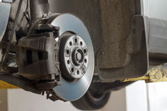 Automotive disc brakes. Royalty Free Stock Images