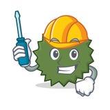 Automotive Durian mascot cartoon style. Vector illustration Royalty Free Stock Photos