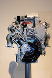 Automotive engine. On display, showing various parts of Stock Photos