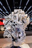 Automotive engine. On display, showing various parts of Royalty Free Stock Photography