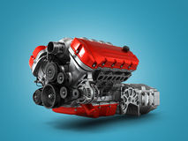 Automotive engine gearbox assembly is  on a white backgr Royalty Free Stock Photography