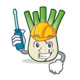 Automotive fennel mascot cartoon style. Vector illustration Royalty Free Stock Photography