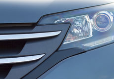 Automotive fire and grille. Stock Photos