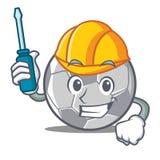 Automotive football character cartoon style Stock Photography