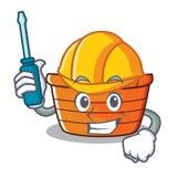 Automotive fruit basket character cartoon. Vector illustration Stock Photo