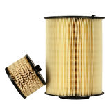 Automotive fuel filter and air filter Royalty Free Stock Image