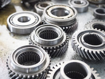 Automotive gear. High precision automotive gear box close-up Royalty Free Stock Images