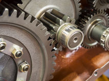 Automotive gear. High precision automotive gear box close-up Royalty Free Stock Image