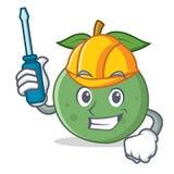 Automotive guava mascot cartoon style. Vector illustration Stock Photo