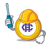 Automotive Hshare coin mascot cartoon. Vector illustration Royalty Free Stock Image