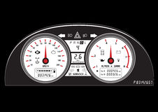 Automotive icon car dashboard vehicle speedometer concept Stock Photography