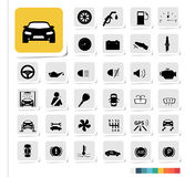Automotive icon set Royalty Free Stock Images