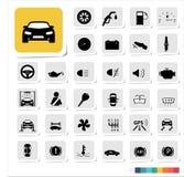 Automotive icon set. Design of automotive icon set Royalty Free Stock Images