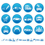 Automotive icons Royalty Free Stock Image