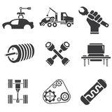 Automotive icons Royalty Free Stock Photography