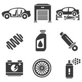 Automotive icons Royalty Free Stock Photos