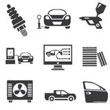 Automotive icons. Car parts and garage icons Stock Photography
