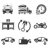 Automotive icons Royalty Free Stock Photos