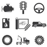 Automotive icons Stock Photo
