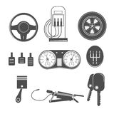 Automotive icons theme Stock Photography