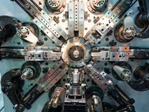 Automotive and industrial spring making machine Stock Photography