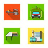 Automotive industry and other web icon in flat style.New technologies icons in set collection. Royalty Free Stock Photo