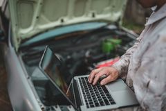 The automotive industry use tech device stock photos