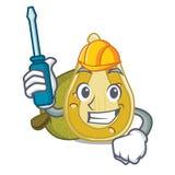 Automotive jackfruit mascot cartoon style. Vector illustration Royalty Free Stock Images