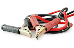 Automotive jumper cables: Clipping path included. Stock Images