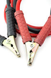 Automotive jumper cables: Clipping path included. Royalty Free Stock Photo