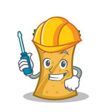 Automotive kebab wrap character cartoon. Vector illustration stock illustration