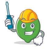Automotive lime mascot cartoon style. Vector illustration Royalty Free Stock Photography