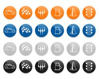 Automotive line vector icons set Royalty Free Stock Photography