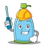 Automotive liquid soap character cartoon Royalty Free Stock Images