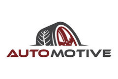 Automotive logo. Logo design of automotive with tire image design vector illustration