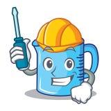 Automotive measuring cup character cartoon. Vector illustartion Royalty Free Stock Photo